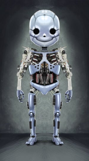 """A project team with experts from science and industry, including the drive specialist maxon motor, is developing a new humanoid robot: """"Roboy""""."""