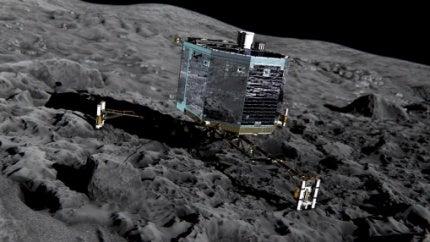 Philae lander, Rosetta space probe